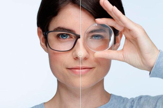 Что лучше очки или линзы для глаз