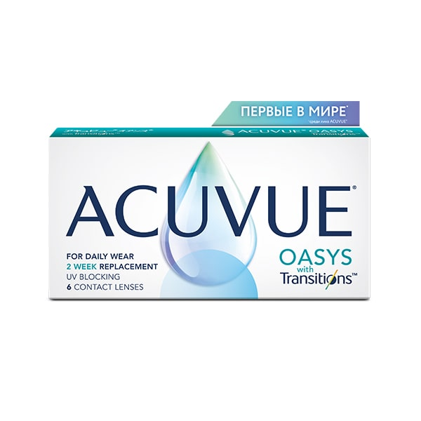 Контактные линзы Johnson & Johnson Acuvue Oasys Transitions 6 шт.